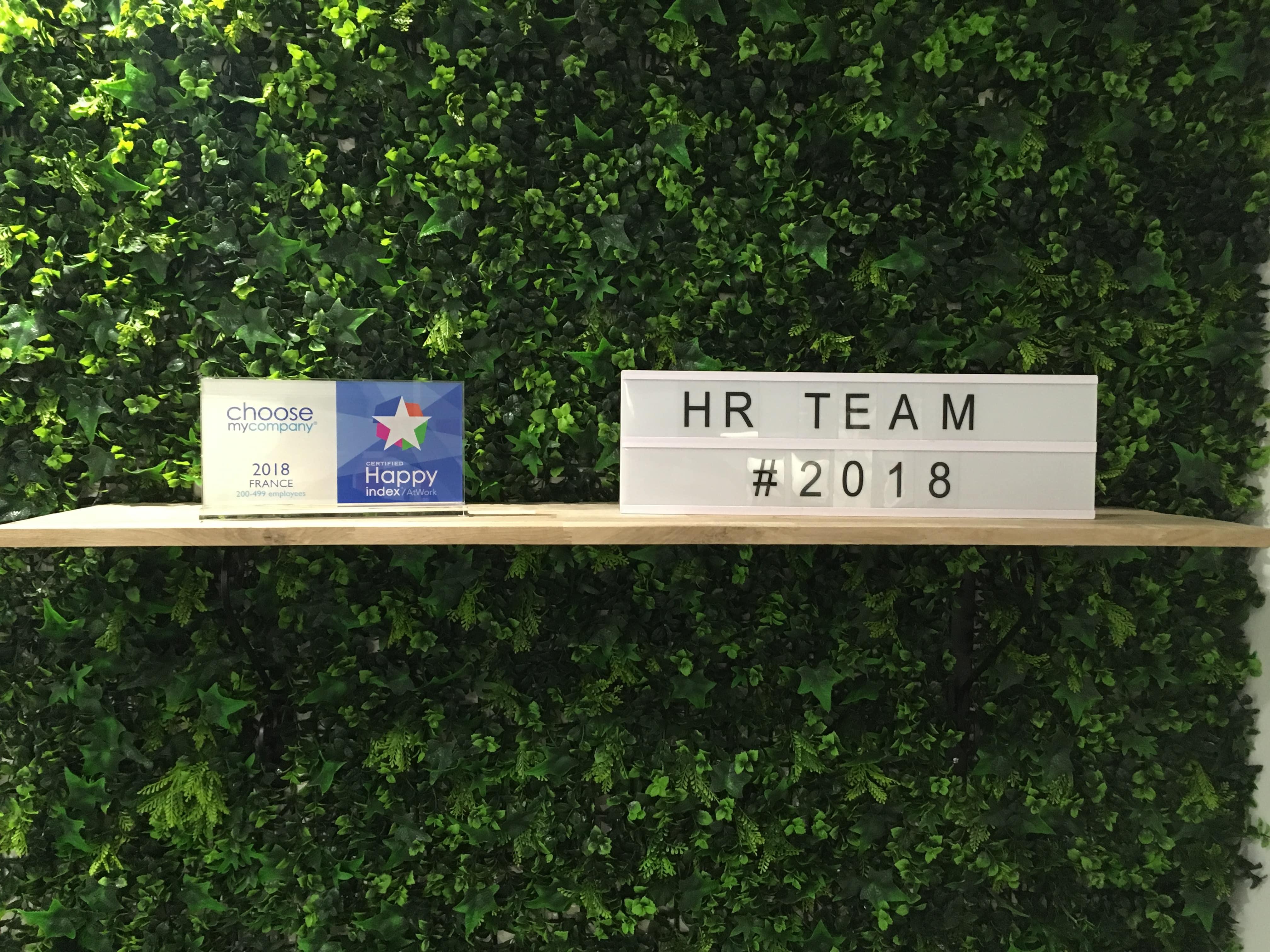 HR Team wins  #HappyAtWork2018 label!