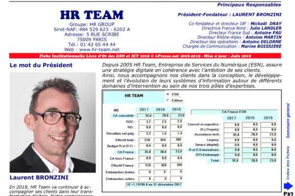 HR Team, 75ème au classement 2018 des ESN françaises !