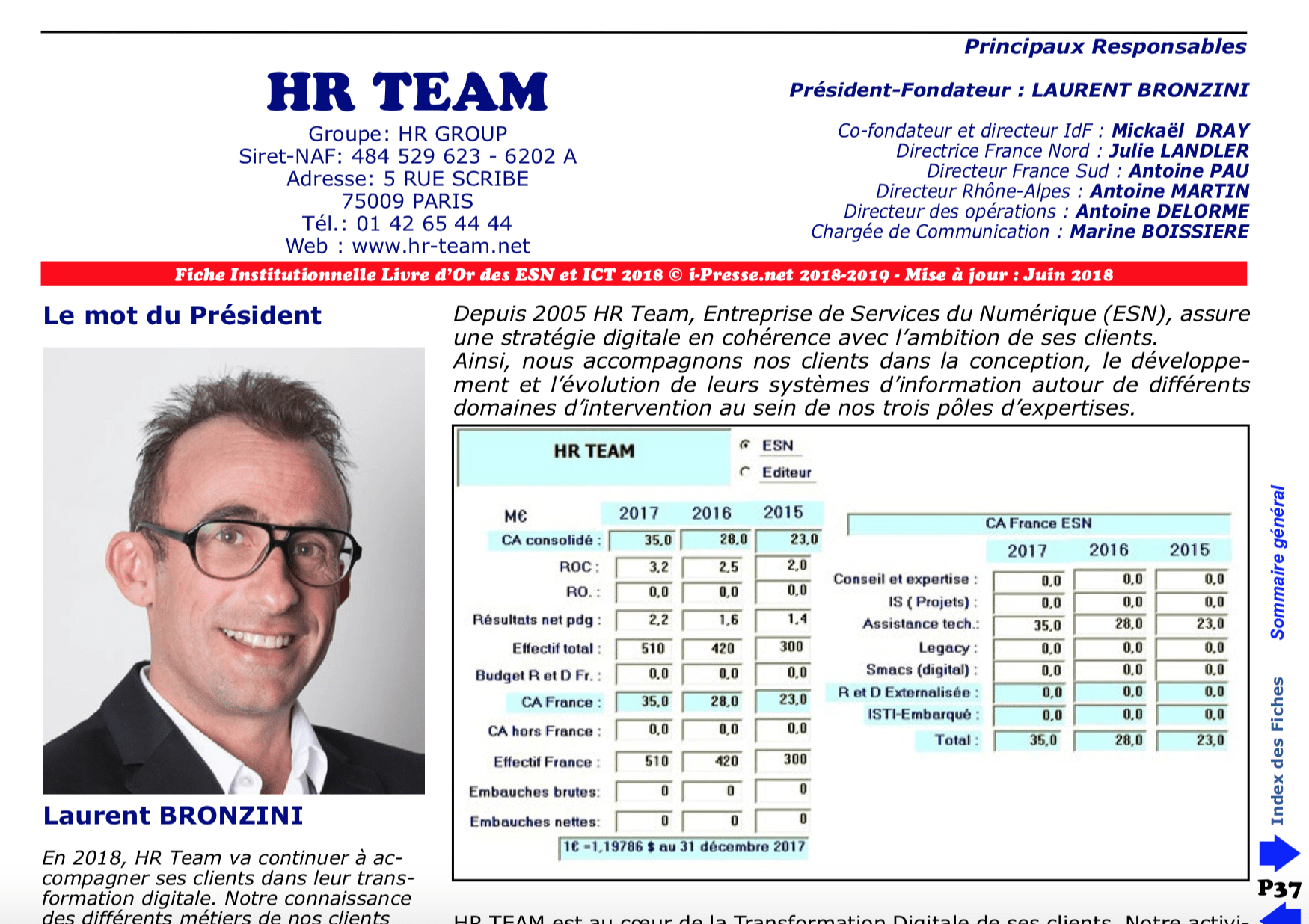 HR Team, 75th in the 2018 ranking of the French ESN!