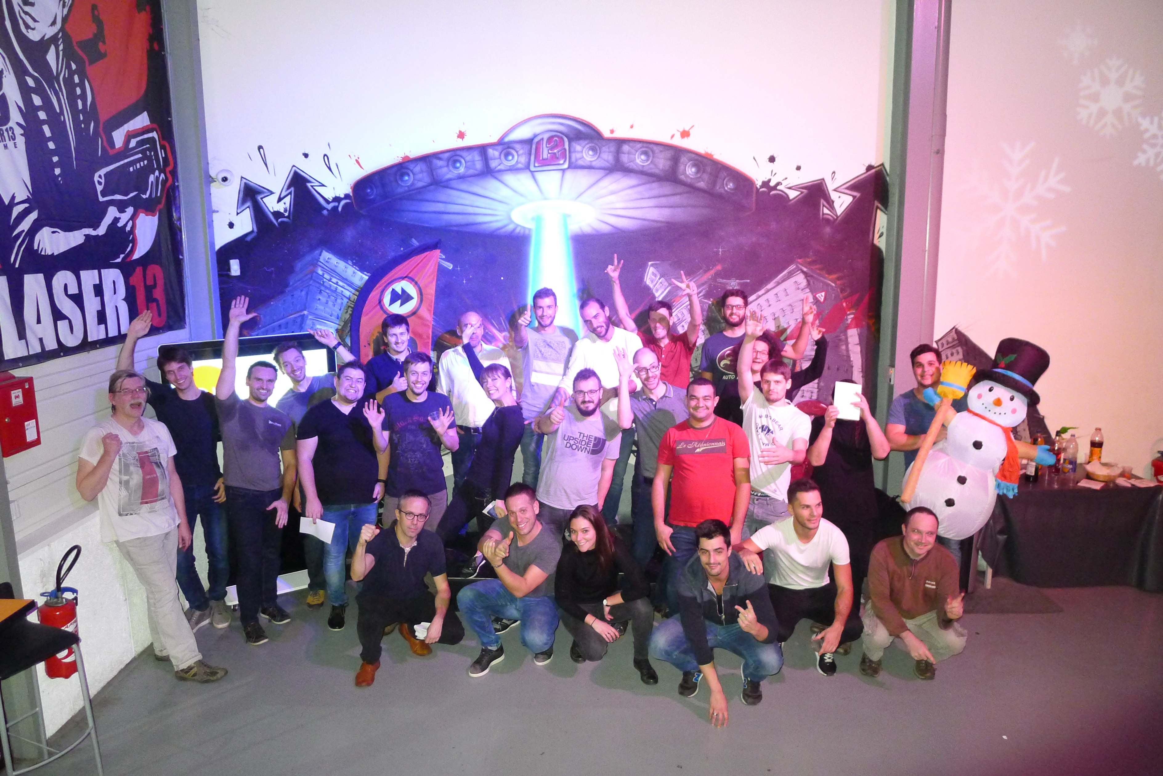 Laser Game Tournament for HR Team Lyon and their consultants !
